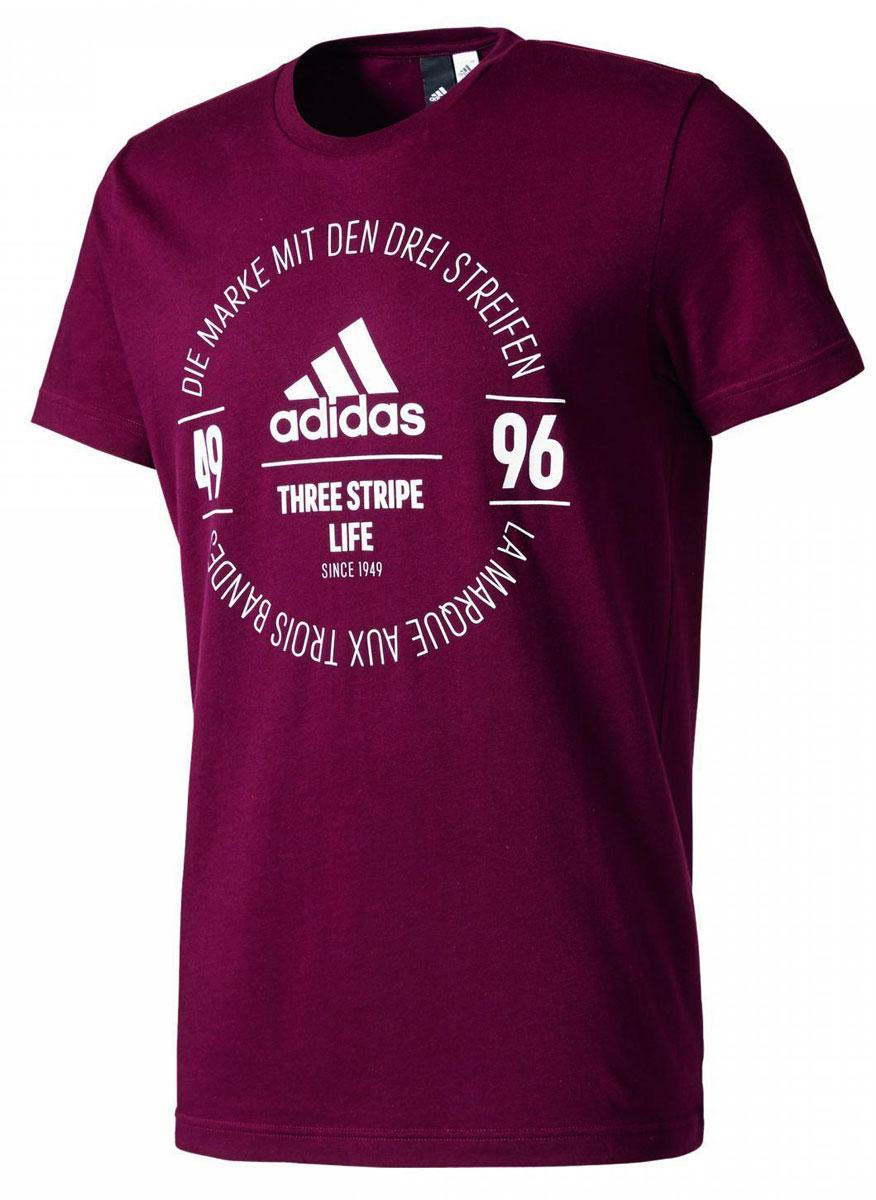 Футболка мужская adidas Logo Tee, цвет: бордовый. BK2804. Размер M (48/50) футболка мужская colincos cl14n247t58 cl tee