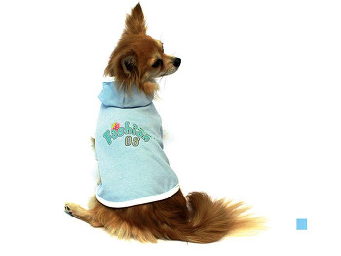 Майка для собак Каскад Fashion, унисекс, цвет: голубой. Размер S52000424Майка для собак Каскад выполнена из трикотажа. Майка без рукавов не ограничивает свободу движений, поэтому собачка будет чувствовать себя в ней комфортно. Модель дополнена капюшоном. Спинка украшена надписями. Модная и невероятно удобная трикотажная майка защитит вашего питомца от пыли и насекомых на улице, согреет дома или на даче. Длина по спинке: 20 см. Одежда для собак: нужна ли она и как её выбрать. Статья OZON Гид