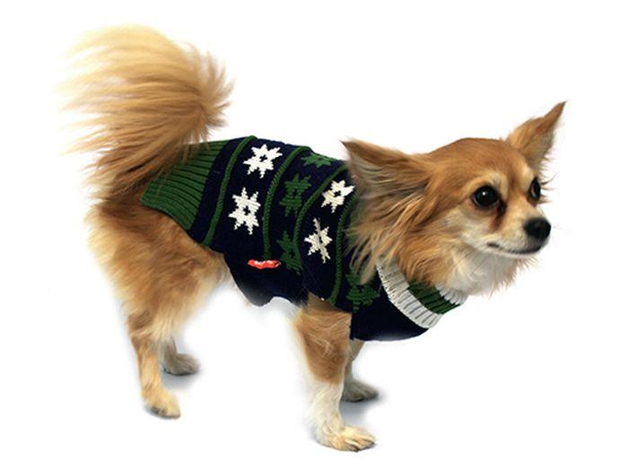 Свитер для собак Каскад Рисунок, унисекс, цвет: болотный. Размер L52000521Теплый свитер для собак Каскад с высоким воротником отлично подойдет для прогулок в прохладную погоду. Воротник и низ изделия выполнены эластичной вязкой для удобного одевания и снятия. Свитер без рукавов не ограничивает свободу движений, поэтому собачка будет чувствовать себя в нем комфортно. На спинке модель дополнена принтом в виде звезд. Длина по спинке: 30 см.Одежда для собак: нужна ли она и как её выбрать. Статья OZON Гид