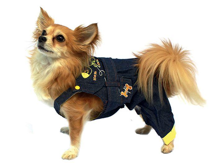 Полукомбинезон для собак Каскад, унисекс, цвет: синий, желтый. Размер L52000553Полукомбинезон для собак Каскад выполнен из высококачественного текстиля, комфортного при движении. Модный и невероятно удобный комбинезон защитит вашего питомца от насекомых на улице, согреет дома или на даче.Одежда для собак: нужна ли она и как её выбрать. Статья OZON Гид
