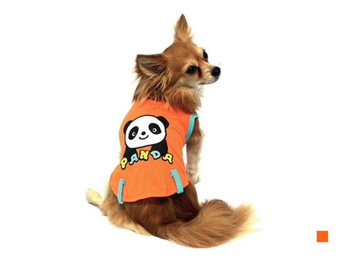 Майка для собак Каскад Панда, унисекс, цвет: оранжевый. Размер S52000672