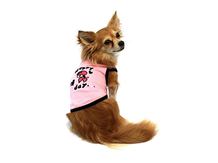 все цены на Майка для собак Каскад Happy Day. Овечка, для девочки, цвет: розовый. Размер S