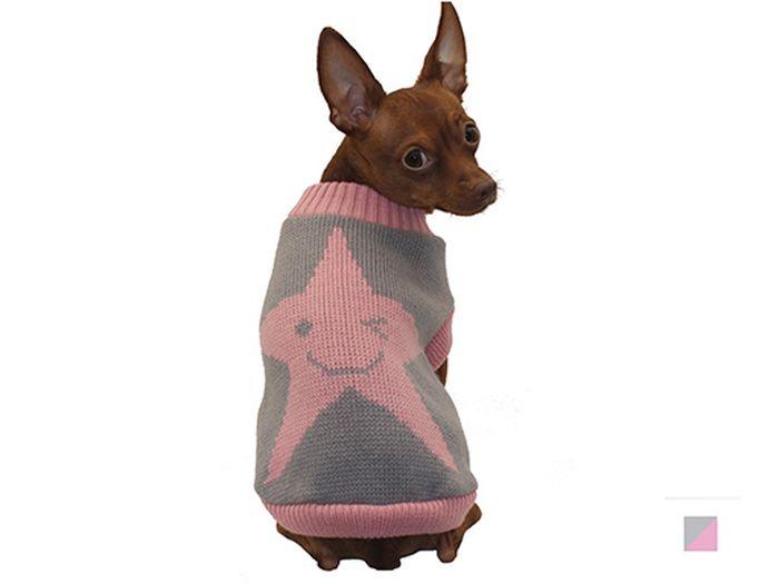 Свитер для собак Каскад Звезда, унисекс, цвет: серый, розовый. Размер XL52001009Теплый и оригинальный свитер со звездочкой - это удобный и функциональный аксессуар для собак, который просто незаменим в холодную погоду. Изделие защитит вашего питомца от ветра и согреет в непогоду. Свитер имеет стильный дизайн, а универсальный фасон не стесняет движений питомца во время прогулки. Такой свитер с модным принтом станет украшением гардероба вашего питомца.