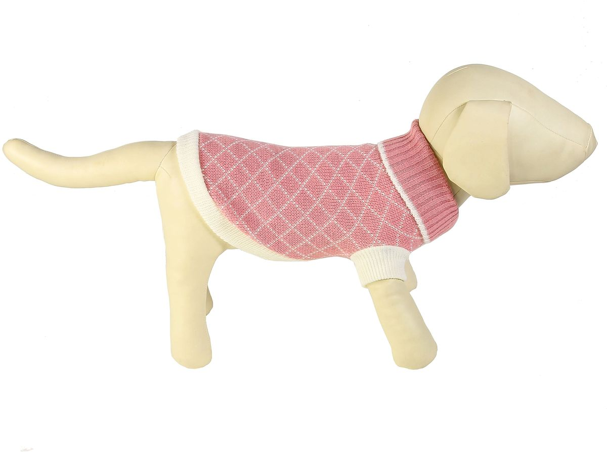 Свитер для собак Каскад Клетка мелкая, унисекс, цвет: розовый, белый. Размер S52001064Теплый свитер для собак Каскад с высоким воротником отлично подойдет для прогулок в прохладную погоду. Края изделия, манжеты рукавов и воротник выполнены эластичной вязкой для удобного одевания и снятия. Свитер не ограничивает свободу движений, и собачка будет чувствовать себя в нем комфортно. Модель дополнена принтом в мелкую клетку. Такой свитер согреет вашего питомца и защитит его от холода и ветра. Длина по спинке: 20 см.Одежда для собак: нужна ли она и как её выбрать. Статья OZON Гид