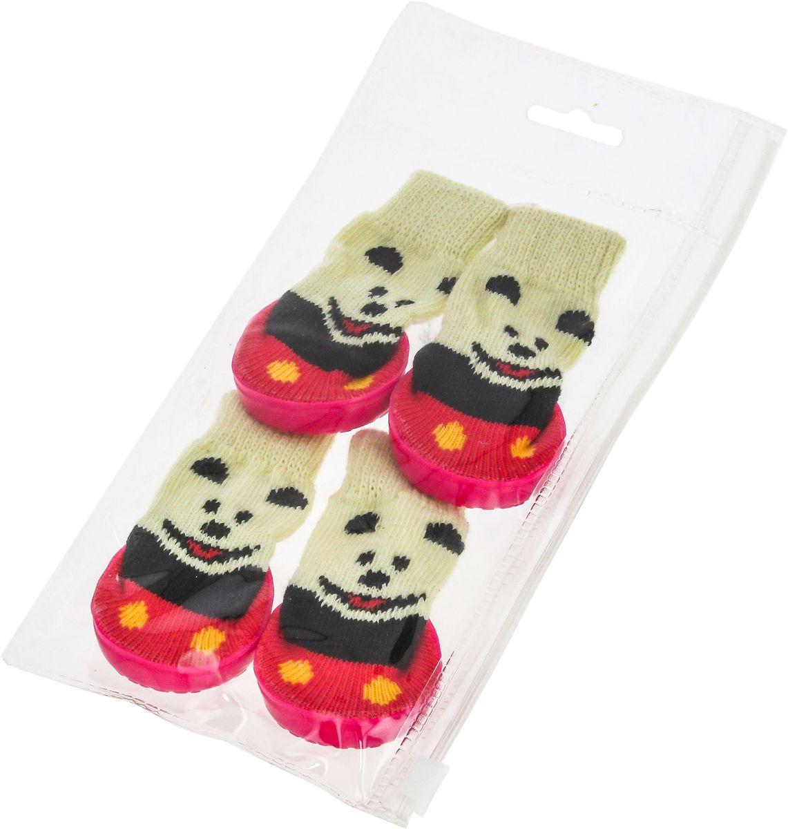 Носки для собак Каскад, унисекс, цвет: красный, черный, бежевый. Размер S28000187-02Носки для собак Каскад выполнены из прочной ткани и снабжены прорезиненной подошвой для того, чтобы ваш питомец мог без проблем бегать по скользкой поверхности. Носки имеют удобную резинку, которая плотно облегает лапу. Носки служат защитой лап от истирания о твердое покрытие и защищают лапу после травмы. Конструкция носка анатомически повторяет строение лапы.Одежда для собак: нужна ли она и как её выбрать. Статья OZON Гид
