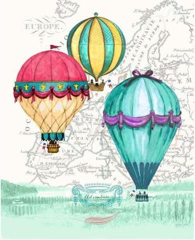 картина репродукция без рамки magic home краски осени 40 х 60 см Картина-репродукция без рамки Magic Home Воздушные шары, 30 х 40 см