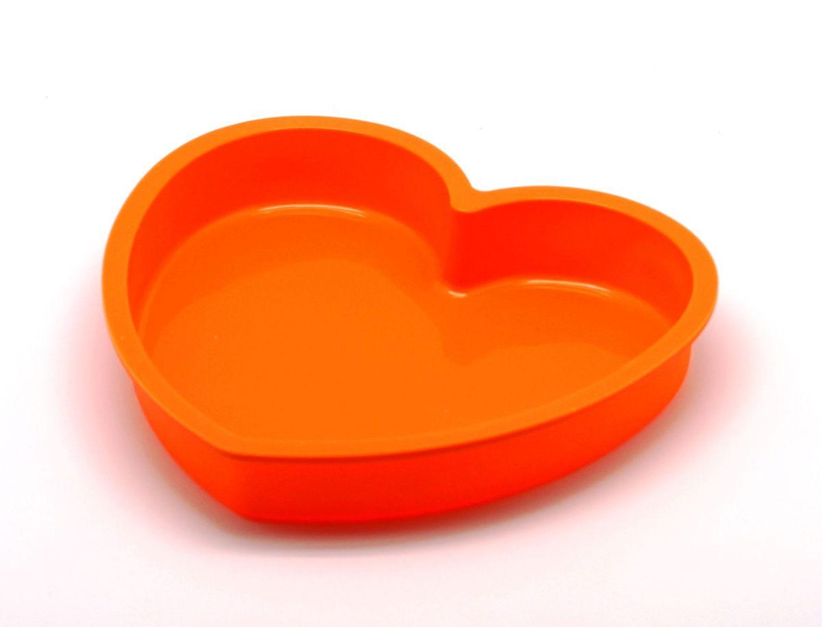 Форма для выпечки Atlantis Сердце, цвет: оранжевый, 23,6 х 22,6 х 3,8 см. SC-BK-017-OSC-BK-017-OФорма для выпечки силиконовая Atlantis— это отличная форма для выпекания пирога, которая сделана из пищевого силикона. Посуда идеально подходит для выпекания различной выпечки, ведь форма предотвращает тесто от «вытекания», при этом, предоставляя возможность с легкостью извлечь готовую выпечку и получить на ней красивый рисунок. Пищевой силикон абсолютно безопасен и не вступает в реакцию с продуктами, а так же не влияет на запах и вкус готового изделия.