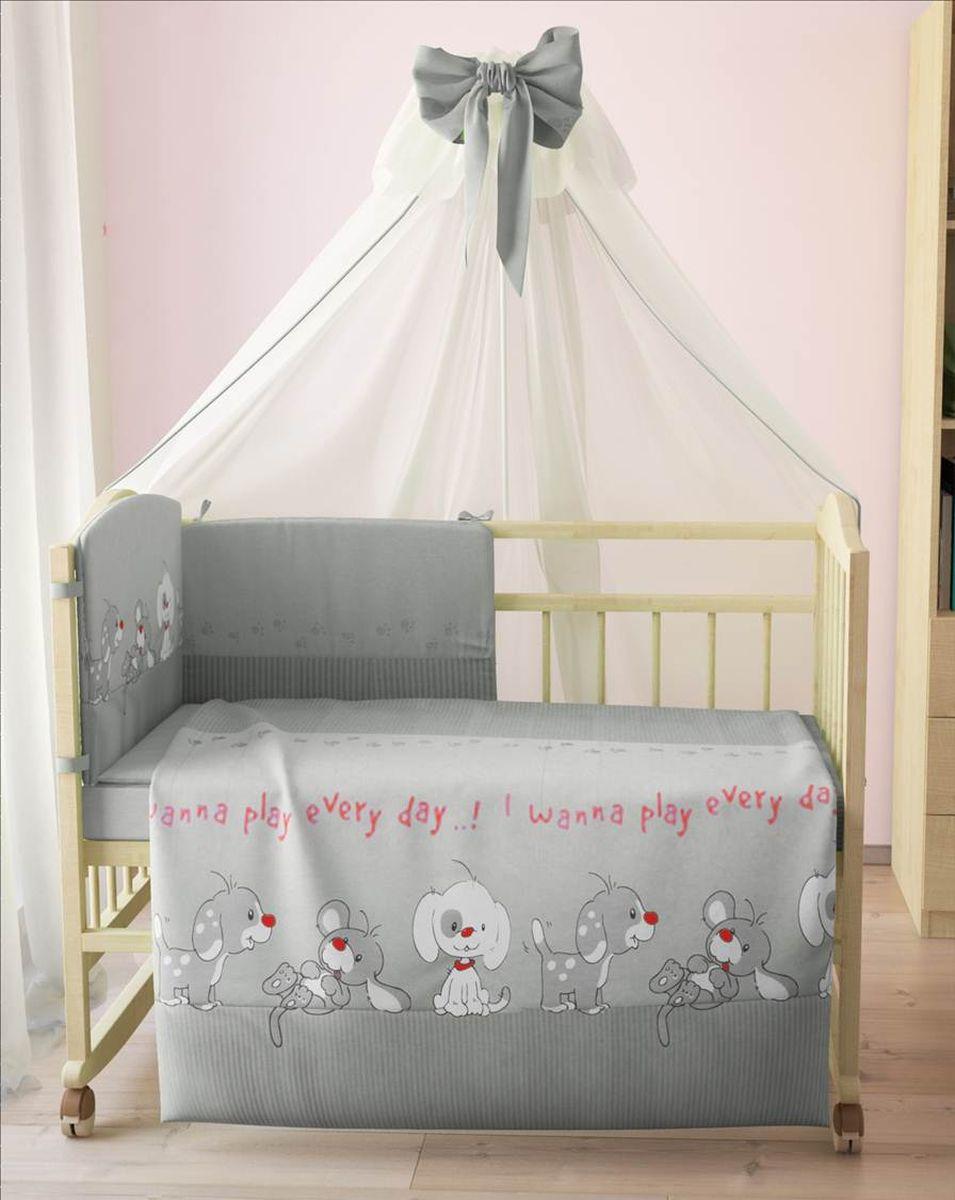 Фея Комплект белья для новорожденных Веселая игра цвет серый 7 предметов 1011-31011-3