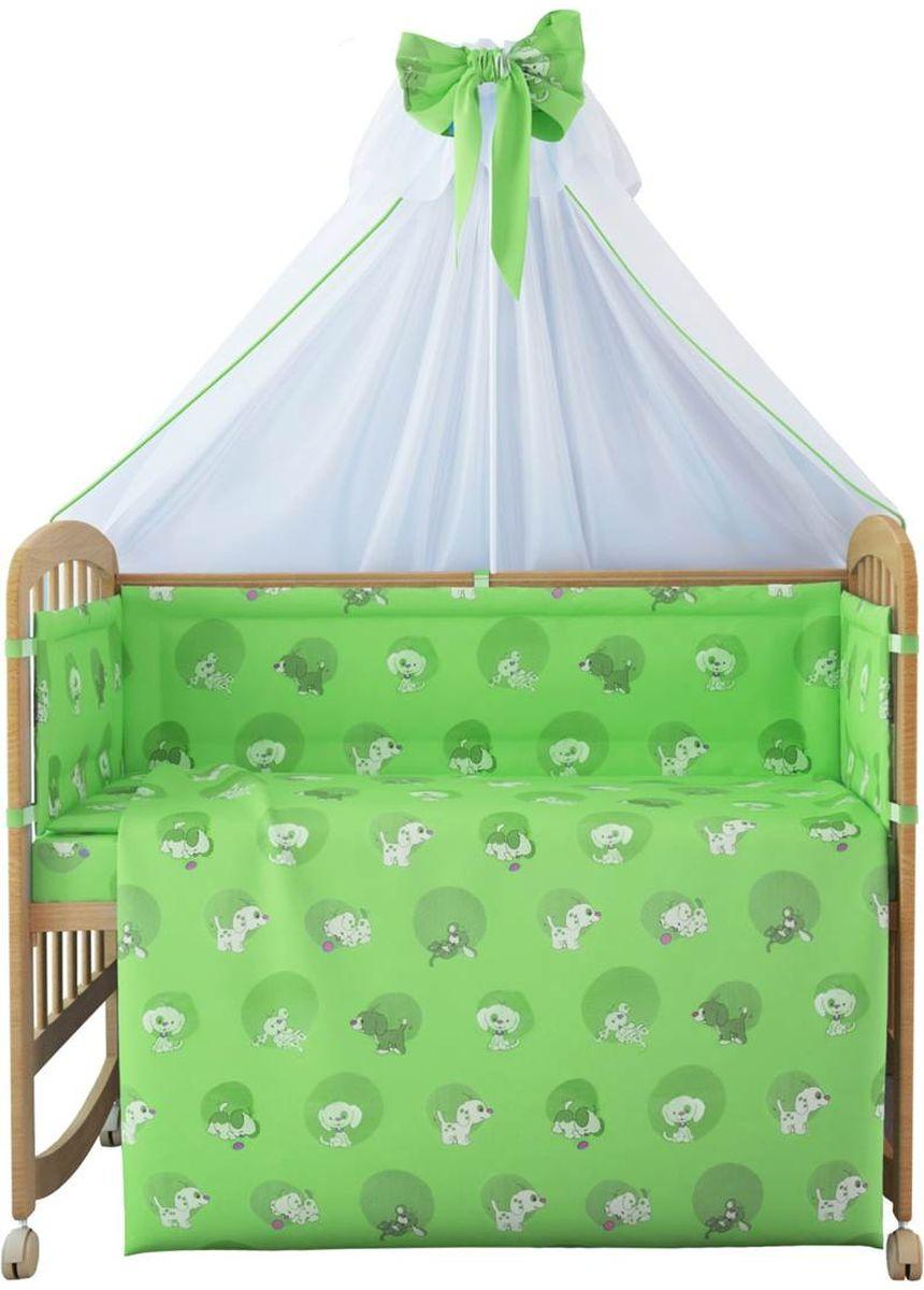 Фея Комплект белья для новорожденных Наши друзья цвет зеленый 7 предметов фея комплект белья для новорожденных веселая игра цвет зеленый 7 предметов 1011 4