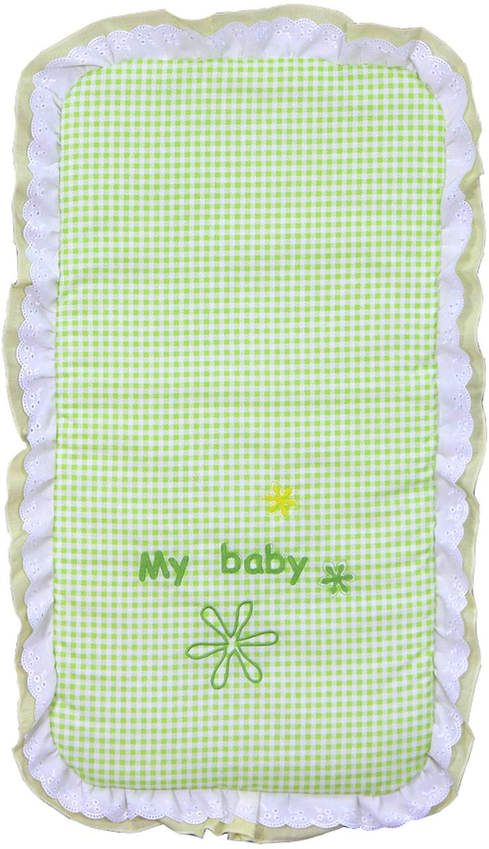 цена Fairy Комплект белья для новорожденных в коляску Белые кудряшки цвет белый зеленый онлайн в 2017 году