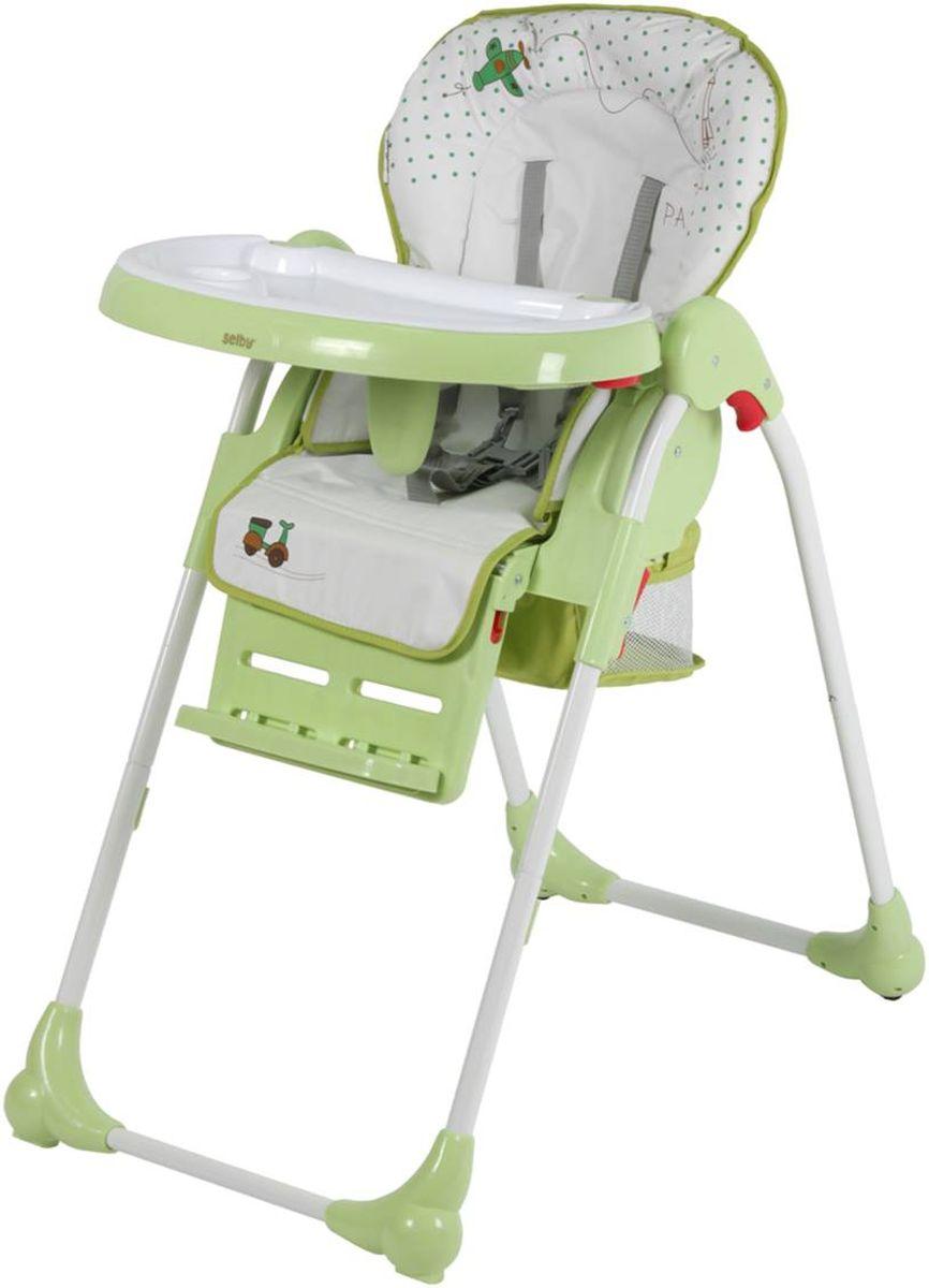Selby Стульчик для кормления цвет белый зеленый 1220