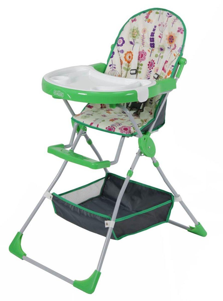 Selby Стульчик для кормления Яркий луг цвет зеленый 1295-05 selby стульчик для кормления цвет белый зеленый 827378