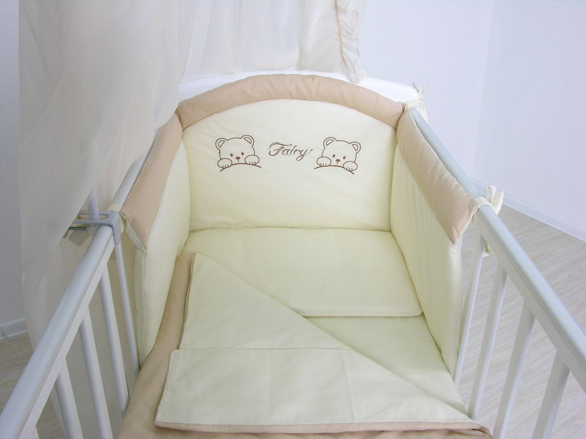 Fairy Комплект белья для новорожденных цвет бежевый коричневый 4 предмета комплект для собак аркон стандарт 6 цвет красный 2 предмета