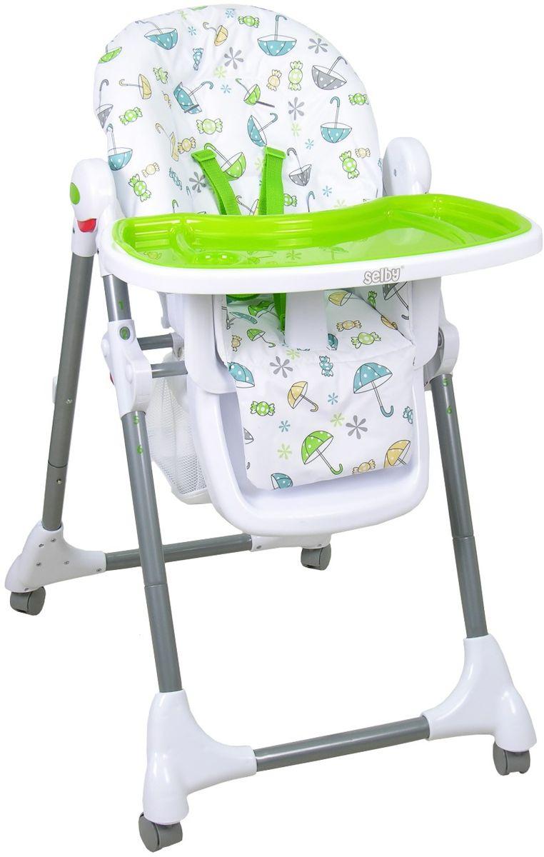 Selby Стульчик для кормления цвет белый зеленый 827378