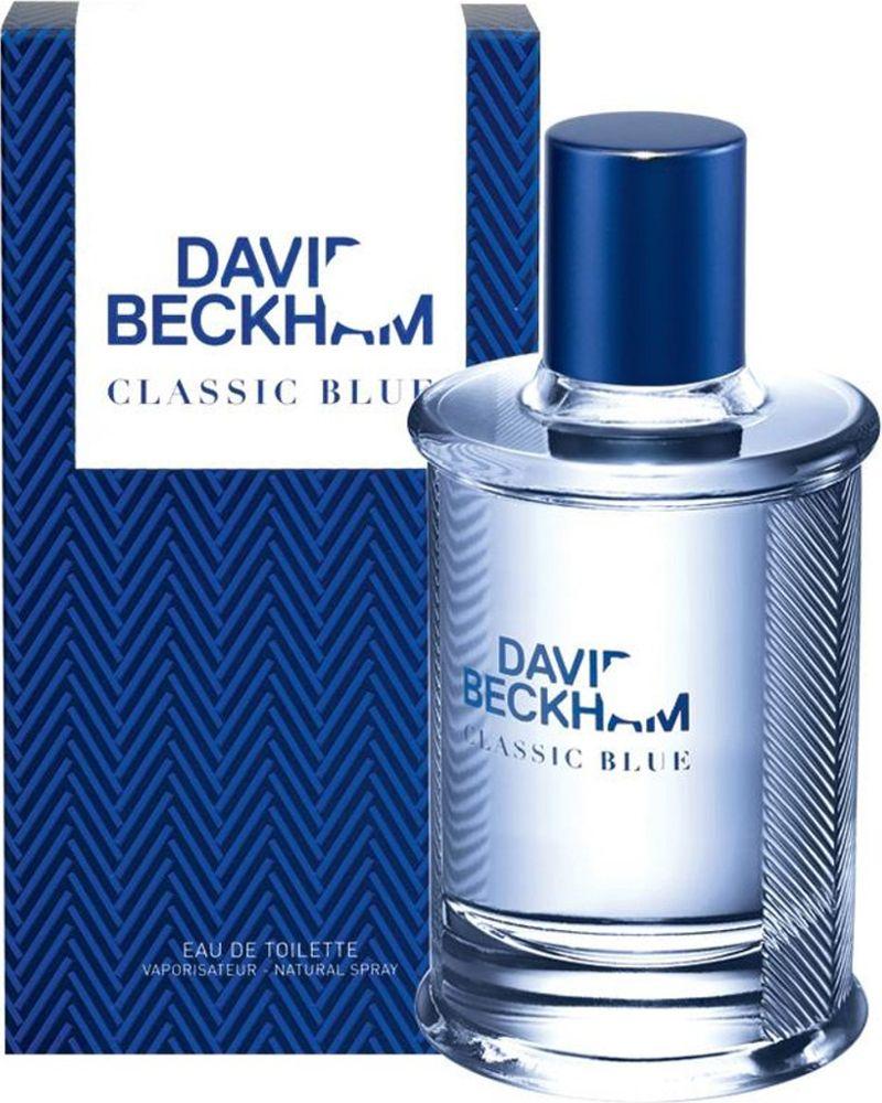 David Beckham Classic Blue Туалетная вода мужская 90 мл32777822000David Beckham Classic Blue сочетает в себе классику и современный стиль, он еще более смелый, чем его предшественник Classic.Верхняя нота: Лист фиалки, ананас, грейпфрут. Средняя нота: Мускатный шалфей, яблоко, герань. Шлейф: Кашемировое дерево, пачули, мох. Композиция этого фужерно-древесного аромата раскрывается нотами бодрящего грейпфрута, сочного ананаса и листа фиалки, переплетаясь с аккордами хрусткого яблока, чувственной герани и мускатного шалфея в сердце. Завершают композицию ноты молекулы cashmeran, терпковатого мха и листа пачули. Дневной и вечерний аромат.