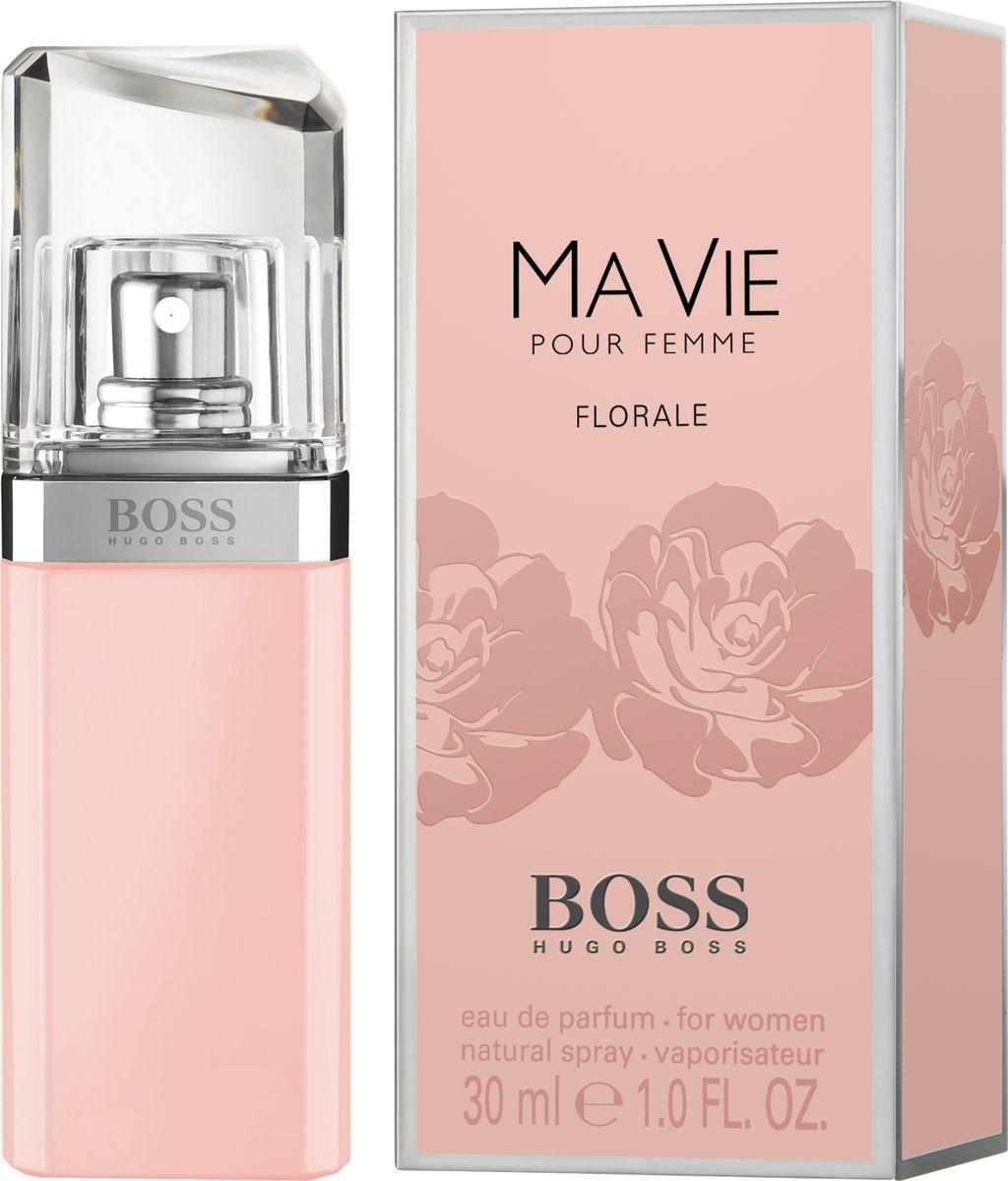 Hugo Boss Ma Vie Florale - Парфюмерная вода женская 30 мл8005610276236Женственный цветочный аромат BOSS MA VIE FLORALE от BOSS Parfums «расцветает» в успешной линейке BOSS MA VIE. Композиция раскрывается аккордом цветущего кактуса, который подчеркивает внутреннюю силу женщины и ее независимый характер. Элегантность и естественность композиции придают сердечные ноты: жасмин самбак и абсолют розы. Нежный аккорд розовой фрезии и лепестков жасмина переплетается с нотой бутонов розы, тем самым создавая аромат свежего букета цветов. Яркое и гармоничное сочетание этих цветочных ингредиентов вдохновляют обладательницу аромата сделать паузу и насладиться мгновением.Краткий гид по парфюмерии: виды, ноты, ароматы, советы по выбору. Статья OZON Гид