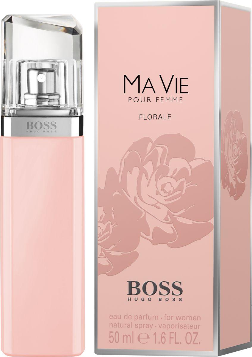 Hugo Boss Ma Vie Florale - Парфюмерная вода женская 50 мл8005610276281Женственный цветочный аромат BOSS MA VIE FLORALE от BOSS Parfums «расцветает» в успешной линейке BOSS MA VIE. Композиция раскрывается аккордом цветущего кактуса, который подчеркивает внутреннюю силу женщины и ее независимый характер. Элегантность и естественность композиции придают сердечные ноты: жасмин самбак и абсолют розы. Нежный аккорд розовой фрезии и лепестков жасмина переплетается с нотой бутонов розы, тем самым создавая аромат свежего букета цветов. Яркое и гармоничное сочетание этих цветочных ингредиентов вдохновляют обладательницу аромата сделать паузу и насладиться мгновением.Краткий гид по парфюмерии: виды, ноты, ароматы, советы по выбору. Статья OZON Гид