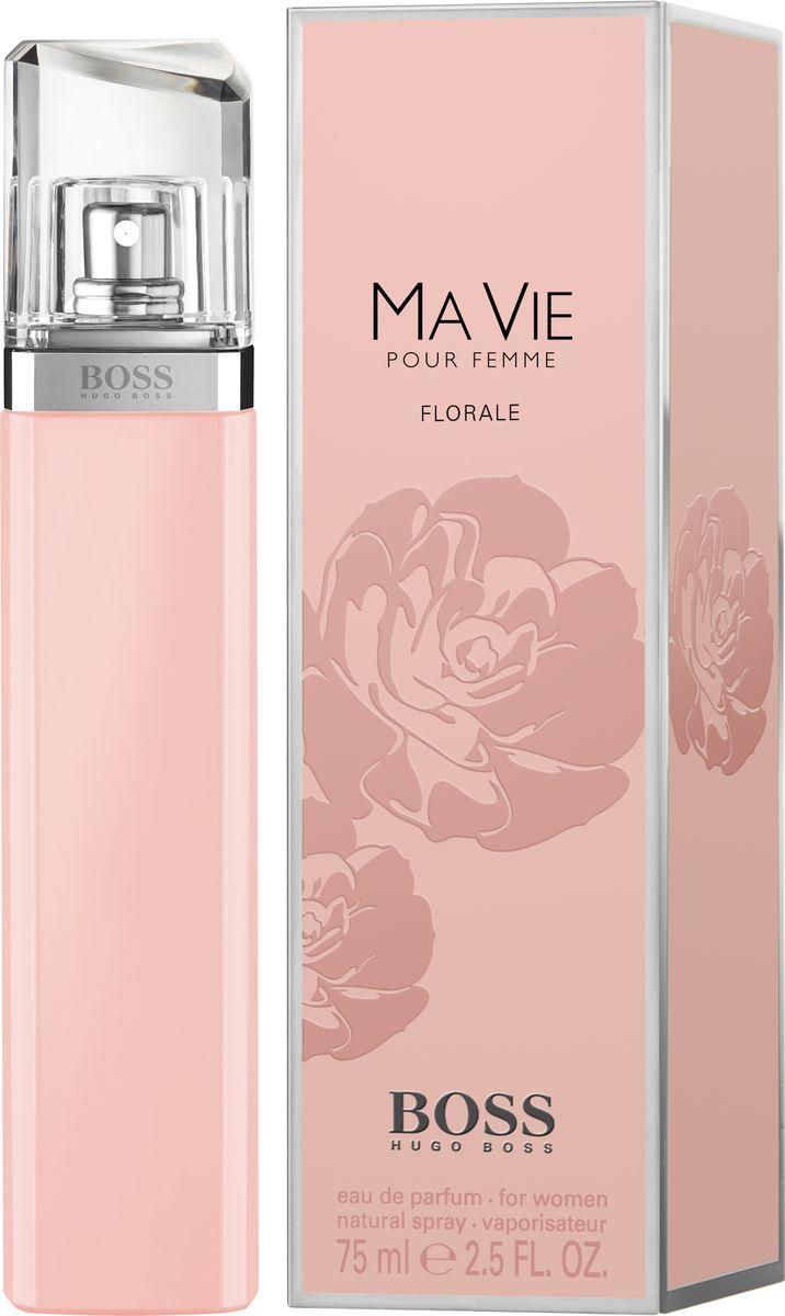 Hugo Boss Ma Vie Florale - Парфюмерная вода женская 75 мл8005610276335Женственный цветочный аромат BOSS MA VIE FLORALE от BOSS Parfums «расцветает» в успешной линейке BOSS MA VIE. Композиция раскрывается аккордом цветущего кактуса, который подчеркивает внутреннюю силу женщины и ее независимый характер. Элегантность и естественность композиции придают сердечные ноты: жасмин самбак и абсолют розы. Нежный аккорд розовой фрезии и лепестков жасмина переплетается с нотой бутонов розы, тем самым создавая аромат свежего букета цветов. Яркое и гармоничное сочетание этих цветочных ингредиентов вдохновляют обладательницу аромата сделать паузу и насладиться мгновением.Краткий гид по парфюмерии: виды, ноты, ароматы, советы по выбору. Статья OZON Гид