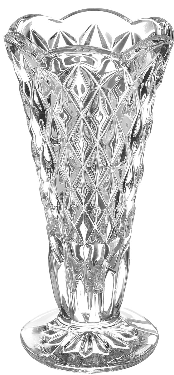 Ваза Crystal Bohemia Diamond, высота 12 см вазы pavone ваза гибискус
