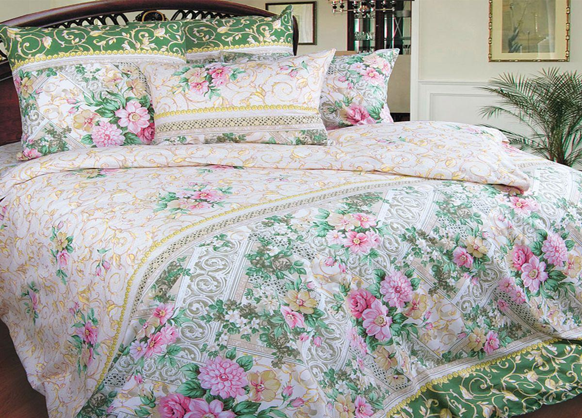 Комплект белья Primavera Роскошь цветов, 2-спальный, наволочки 70x7081991Комплект постельного белья Primavera Роскошь цветов является экологически безопасным для всей семьи, так как выполнен из высококачественного хлопка. Комплект состоит из пододеяльника на молнии, простыни и двух наволочек. Постельное белье оформлено ярким цветочным рисунком и имеет изысканный внешний вид. Постельное белье из хлопка превращает жаркие летние ночи в прохладные и освежающие, а холодные зимние - в теплые и согревающие. Приобретая комплект постельного белья Primavera Роскошь цветов, вы можете быть уверенны в том, что покупка доставит вам и вашим близким удовольствие и подарит максимальный комфорт.