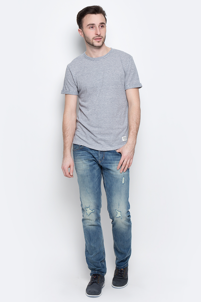 Футболка мужская Tom Tailor Denim, цвет: синий. 1037078.00.12_6740. Размер L (50) футболка tom tailor denim tom tailor denim to793ewatwp3