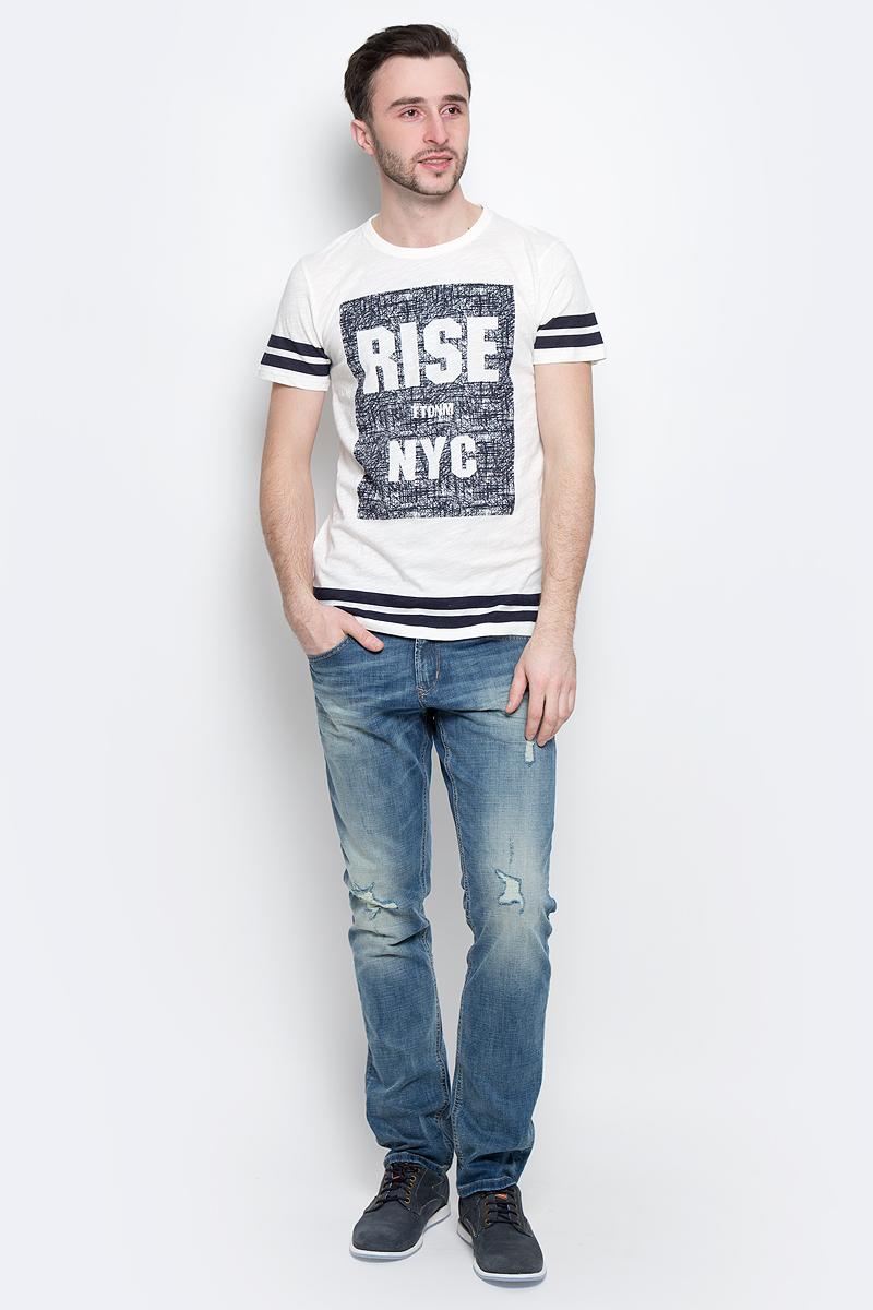 Футболка мужская Tom Tailor Denim, цвет: молочный. 1037074.00.12_2132. Размер XL (52) футболка tom tailor denim 1055137 62 12 2607