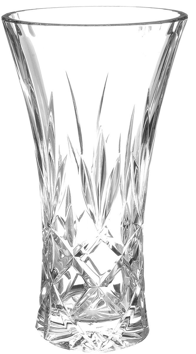 """Элегантная ваза Crystal Bohemia """"Christie"""" выполнена из  настоящего чешского хрусталя с содержанием 24% оксида  свинца, что придает изделию поразительную прозрачность и  чистоту, невероятный блеск, присущий только ювелирным  изделиям, особое, ни с чем не сравнимое светопреломление и  игру всеми красками спектра как при естественном, так и при  искусственном освещении. Такая ваза подойдет для декора интерьера. Кроме  того - это отличный вариант подарка для ваших близких и  друзей. Высота вазы: 25,5 см. Диаметр вазы (по верхнему краю): 13 см. Объем вазы: 2 л."""
