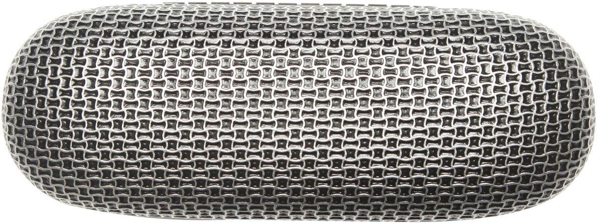 Proffi Home Футляр для очков Fabia Monti, ребристый, цвет: черный, серебристый