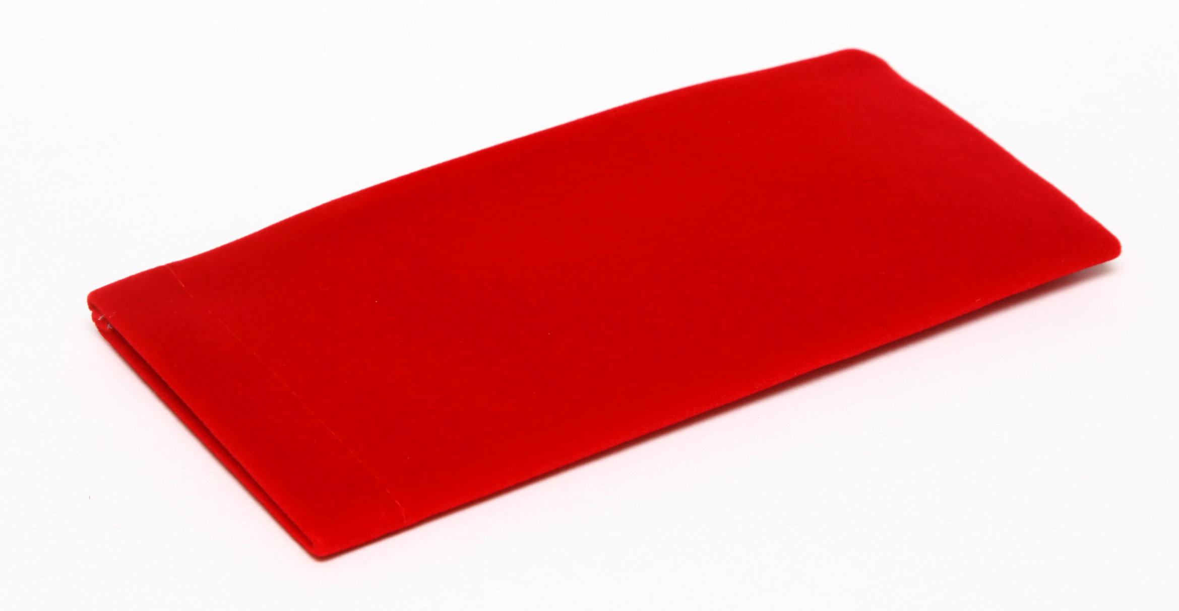 Proffi Home Футляр для очков Fabia Monti текстильный, мягкий, широкий, цвет: красный proffi home футляр для очков fabia monti овальный цвет голубой