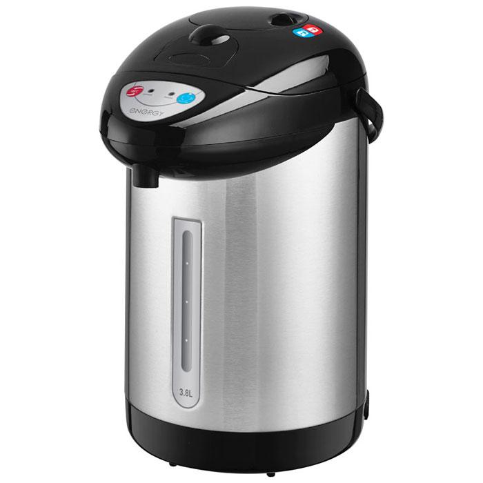 Energy TP-603, Silver Black термопот54 280027Термопот Energy TP-603 поможет не только вскипятить или подогреть воду, но и сохранить ее температуру на заданном уровне в течение нескольких часов. Благодаря этому вы избавите себя от частого подогрева воды, что, в свою очередь, обеспечит вполне реальную экономию электроэнергии. Данная модель разработана специально для тех, кому постоянно необходимо иметь в доме запас горячей воды.Мощность в режиме поддержания температуры: 35 Вт3 способа подачи воды: автоматическая (нажатием кнопки, нажатием чашкой) и ручная (помпа)Быстрое кипячение водыФункция повторного кипяченияСъемный шнур питания