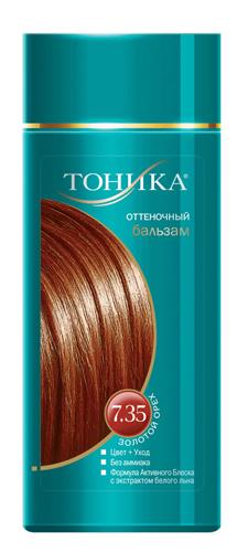 Тоника Оттеночный бальзам 7.35 Золотой орех, 150 мл6109Красивые и здоровые волосы- важный элемент имиджа! Яркие волосы выделяют женщину из толпы, вы будете всегда в центре внимания! Подходит для светлых и светло-русых волосНе содержит спирт, аммиак и перекись водородаСодержит уникальный экстракт белого льнаКрасивый оттенок + дополнительный уходСтойкий цвет без вреда для волос