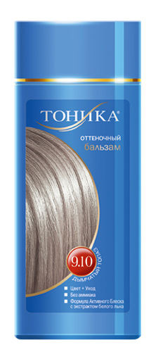 Тоника Оттеночный бальзам 9.10 Дымчатый топаз, 150 мл6106Холодные оттенки волос создают притягательный и таинственный образ. Красивые и здоровые волосы- важный элемент имиджа!Разработан специально для волос с долей седины более 70% Не содержит спирт, аммиак и перекись водорода Содержит уникальный