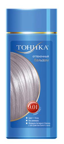 Тоника Оттеночный бальзам 9.01 Аметист, 150 мл6102Холодные оттенки волос создают притягательный и таинственный образ. Красивые и здоровые волосы- важный элемент имиджа!Разработан специально для волос с долей седины более 70% Не содержит спирт, аммиак и перекись водорода Содержит уникальный экстракт белого льна Красивый оттенок + дополнительный уход Стойкий цвет без вреда для волос