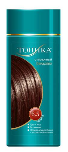 Тоника Оттеночный бальзам 6.5 Корица, 150мл6403Красивые и здоровые волосы- важный элемент имиджа! Коричнево-красные оттенки волос прекрасно подходят романтичным и робким натурам, которые склоны к мечтаниям и нежности! Подходит для русых и темно-русых волосНе содержит спирт, аммиак и перекись водородаСодержит уникальный экстракт белого льнаКрасивый оттенок + дополнительный уходСтойкий цвет без вреда для волос
