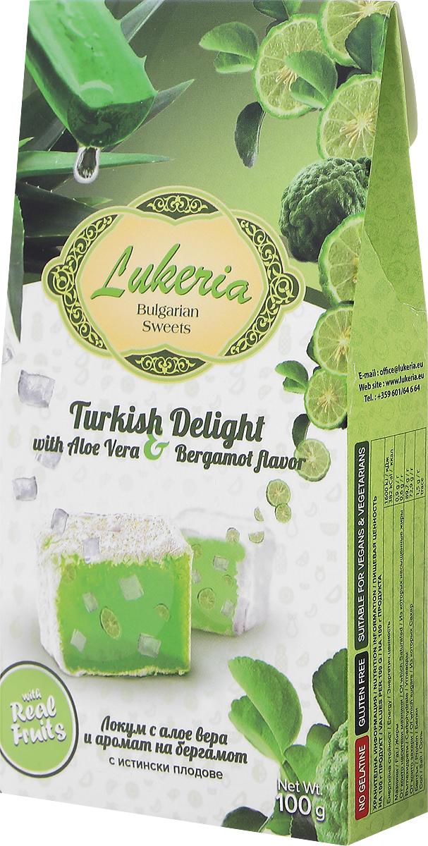 Lukeria рахат-лукум с алоэ вера и ароматом бергамота, 100 г