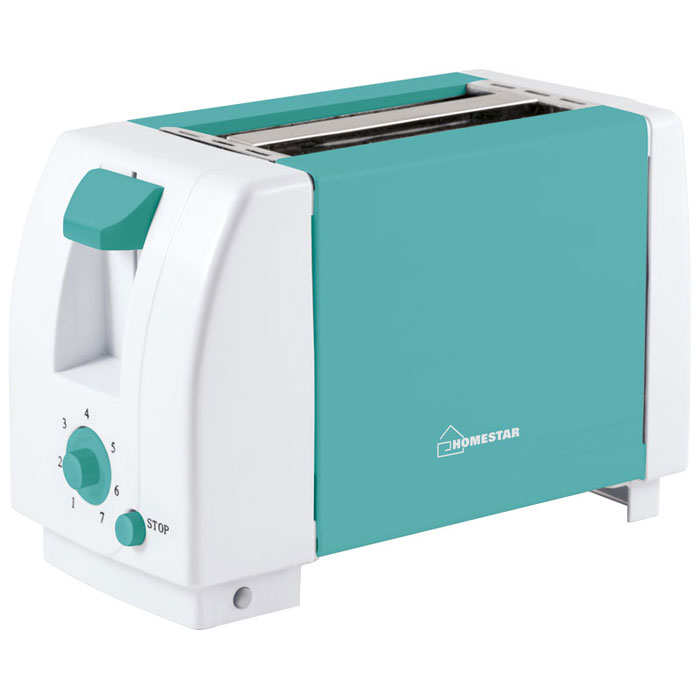 HomeStar HS-2002, Turquoise White тостер
