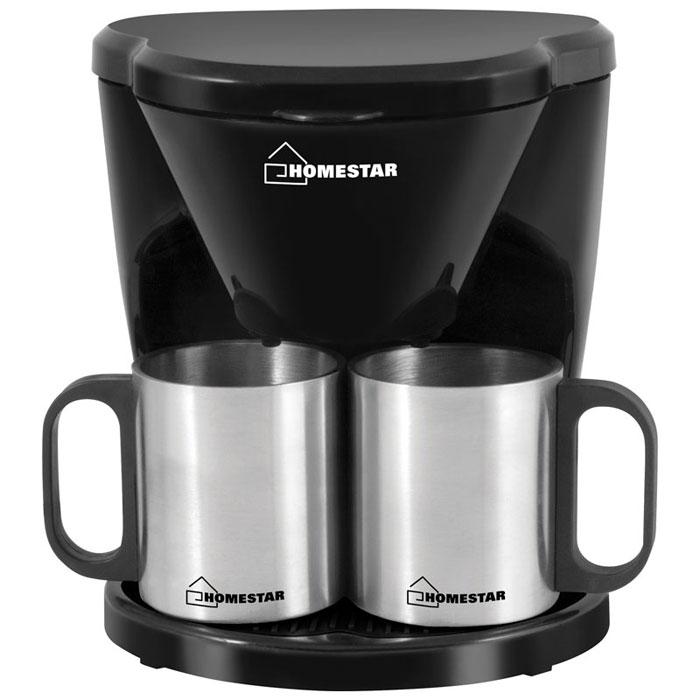 HomeStar HS-2010, Black кофеварка54 002694HomeStar HS-2010 - капельная кофеварка, которая не только порадует вас качественным исполнением, но и ароматным и невероятно вкусным кофе, с которым очень приятно начинать утро.Корпус выполнен из высококачественных и безопасных материалов, которые не влияют на вкус напитка. Съемный фильтр удобен в очистке. Благодаря оптимальной мощности, напитки готовятся за считанные минуты, и вы в короткое время сможете насладиться ароматным кофе.Кофеварка оснащена устойчивым основанием, которое служит для надежного закрепления прибора на поверхности.Как выбрать кофеварку. Статья OZON Гид