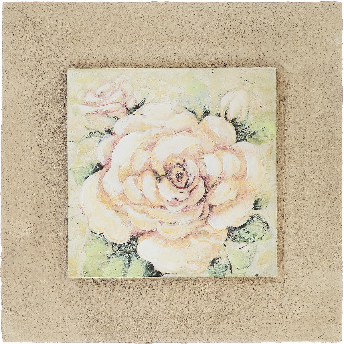 Картина-репродукция Феникс-Презент Белая роза, 25 х 25 х 3,5 см44438Картина-репродукция Феникс-презент Белая роза с основой из МДФ выполнена печатью на бумаге с ручной подрисовкой. На оборотной стороне имеется петля для подвешивания на стену.Такая картина - вдохновляющее декоративное решение, привносящее в интерьер нотки творчества и изысканности! Благодаря оригинальному дизайну картина Белая роза дополнит интерьер любого помещения, а также сможет стать изысканным подарком для ваших друзей и близких.