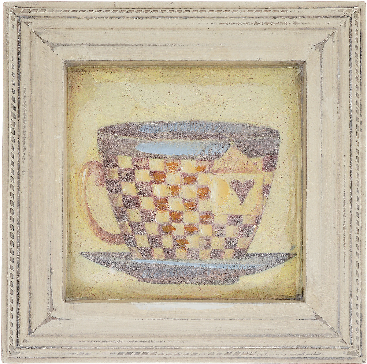 Картина-репродукция Феникс-Презент Чашка чая, 23,5 х 23,5 х 2 см44441Картина-репродукция Феникс-презент Чашка чая в рамке из МДФ выполнена печатью на бумаге с ручной подрисовкой. На оборотной стороне имеется петля для подвешивания на стену.Такая картина - вдохновляющее декоративное решение, привносящее в интерьер нотки творчества и изысканности! Благодаря оригинальному дизайну картина Чашка чая дополнит интерьер любого помещения, а также сможет стать изысканным подарком для ваших друзей и близких.