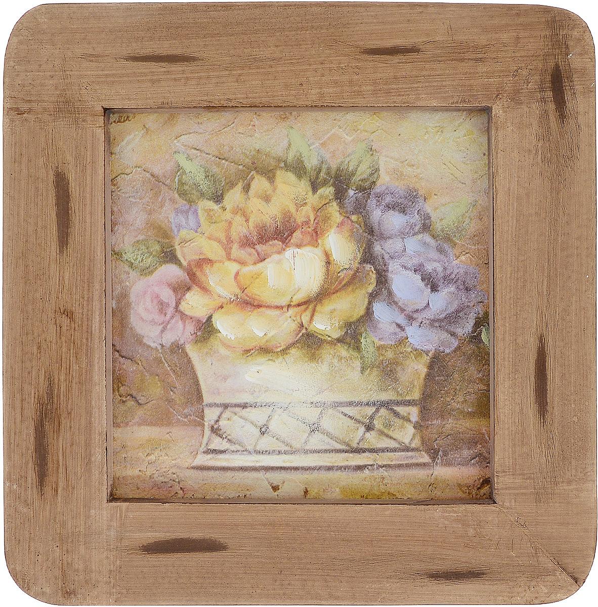Картина-репродукция Феникс-Презент Корзинка с цветами, 20,3 х 20,3 х 1,5 см футболка классическая printio universal nutrition