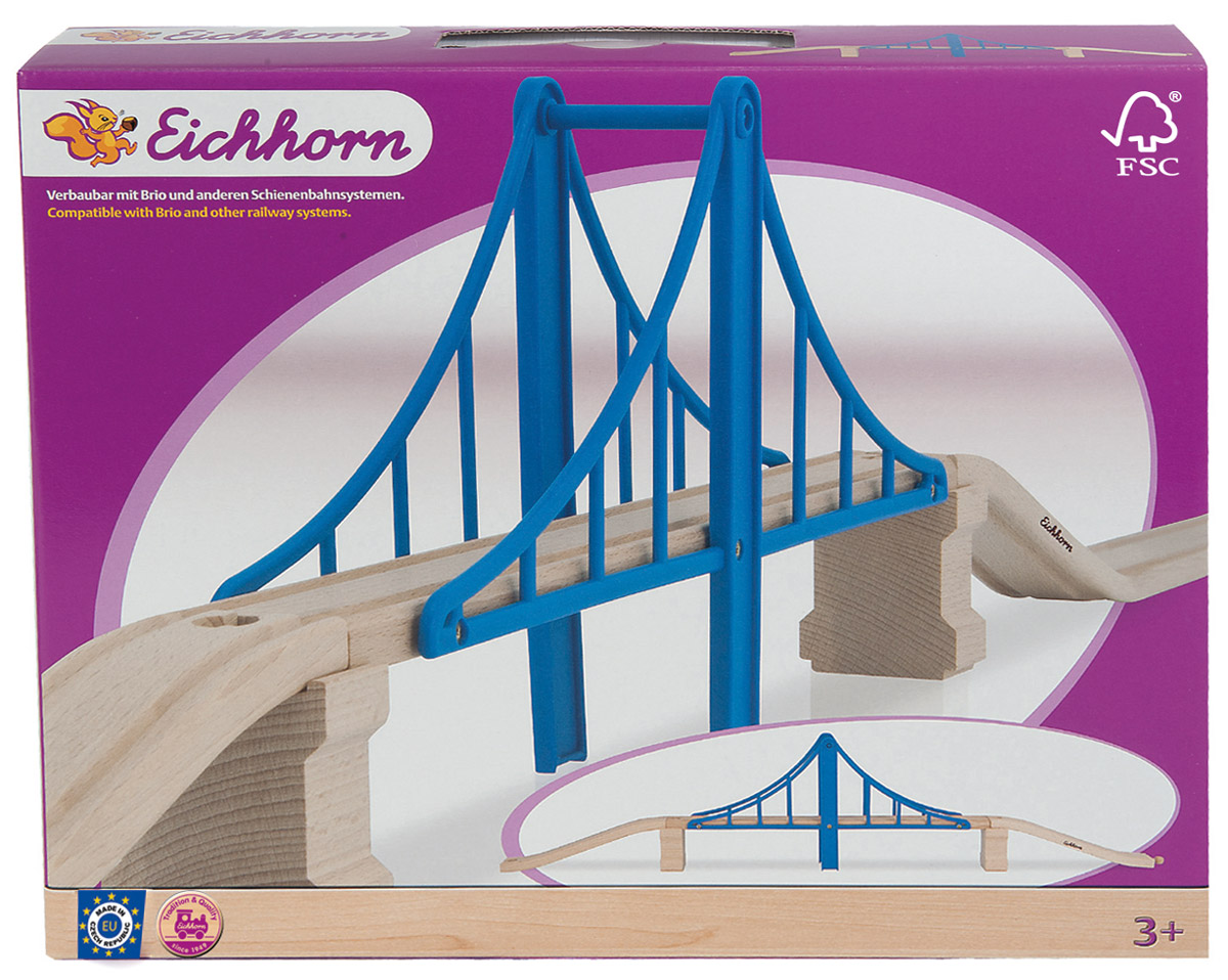 Eichhorn Аксессуар для железной дороги Висячий мост eichhorn рельсы радиусные