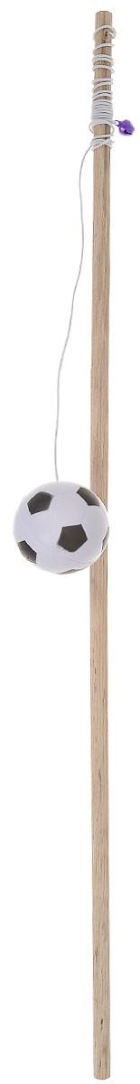 Игрушка для кошек Zoobaloo Удочка с мячиком, длина 1 м игрушка для кошек zoobaloo удочка с мышкой длина 40 см