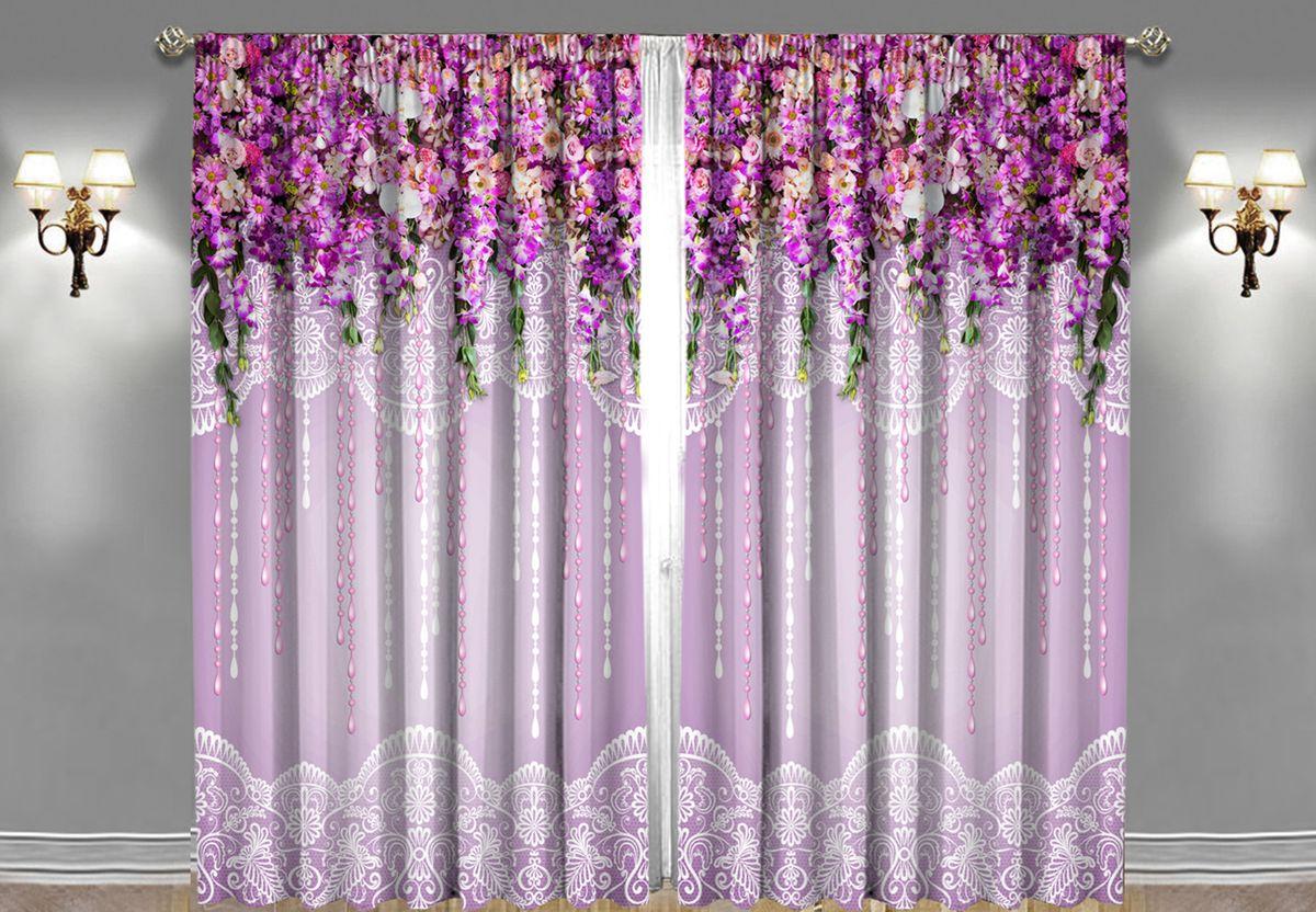 Комплект фотоштор Zlata Korunka Волшебный са, на ленте, цвет: фиолетовый, высота 270 см21255Комплект фотоштор Zlata Korunka изготовлен из габардиновой ткани высочайшего качества. Фотошторы способны не пропускать самый яркий свет, их можно гладить и стирать. Рекомендации по уходу: бережная стирка при 30°С, деликатный отжим, отбеливание запрещено, гладить при температуре не более 150°С. Светопоглощение 70%. Плотность ткани: 150 г/м2. Оттенок изделия может отличаться от представленного на сайте в силу особенностей цветопередачи фототехники и вашего монитора.