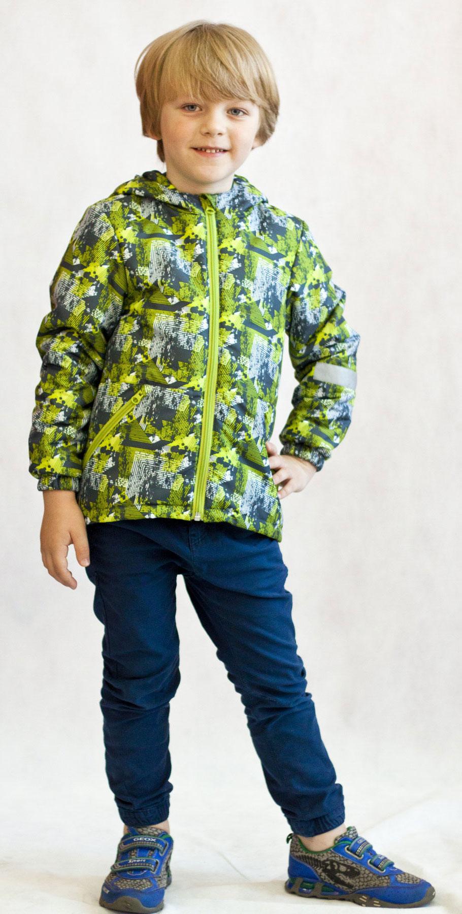 Куртка для мальчика Jicco Илар, цвет: серый, салатовый. 2К1719. Размер 122, 7 лет2К1719Легкая и удобная весенняя куртка Илар от Jicco By Oldos отлично подойдет для прохладной весенней погоды. Модель выполнена из полиэстера со специальным водоотталкивающим покрытием, застегивается на молнию. Благодаря утеплителю Hollofan плотностью 100 г/м2 куртку можно носить при температуре +10…-5°С. Она прекрасно защитит от ветра и весеннего дождика. Куртка имеет все самое необходимое для комфортной носки. Внутренняя ветрозащитная планка по всей длине молнии с защитой подбородка от прищемления. Низ куртки регулируется по ширине. Капюшон несъемный, для лучшего прилегания по краям вшита резинка. Манжеты присобраны на резинку. Есть светоотражающие элементы и карманы на молнии.