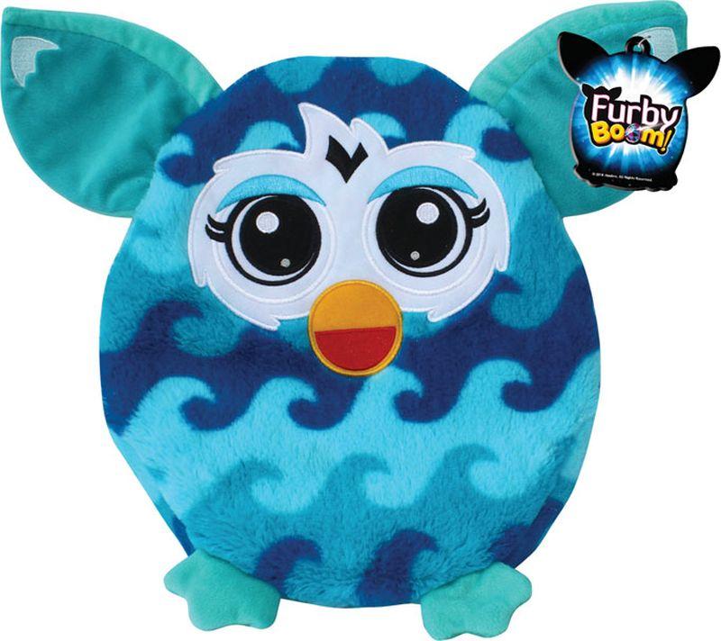 1TOY Мягкая игрушка-подушка Furby цвет бирюзовый голубой 30 см мягкая игрушка кайл 12см с чипом 1toy южный парк