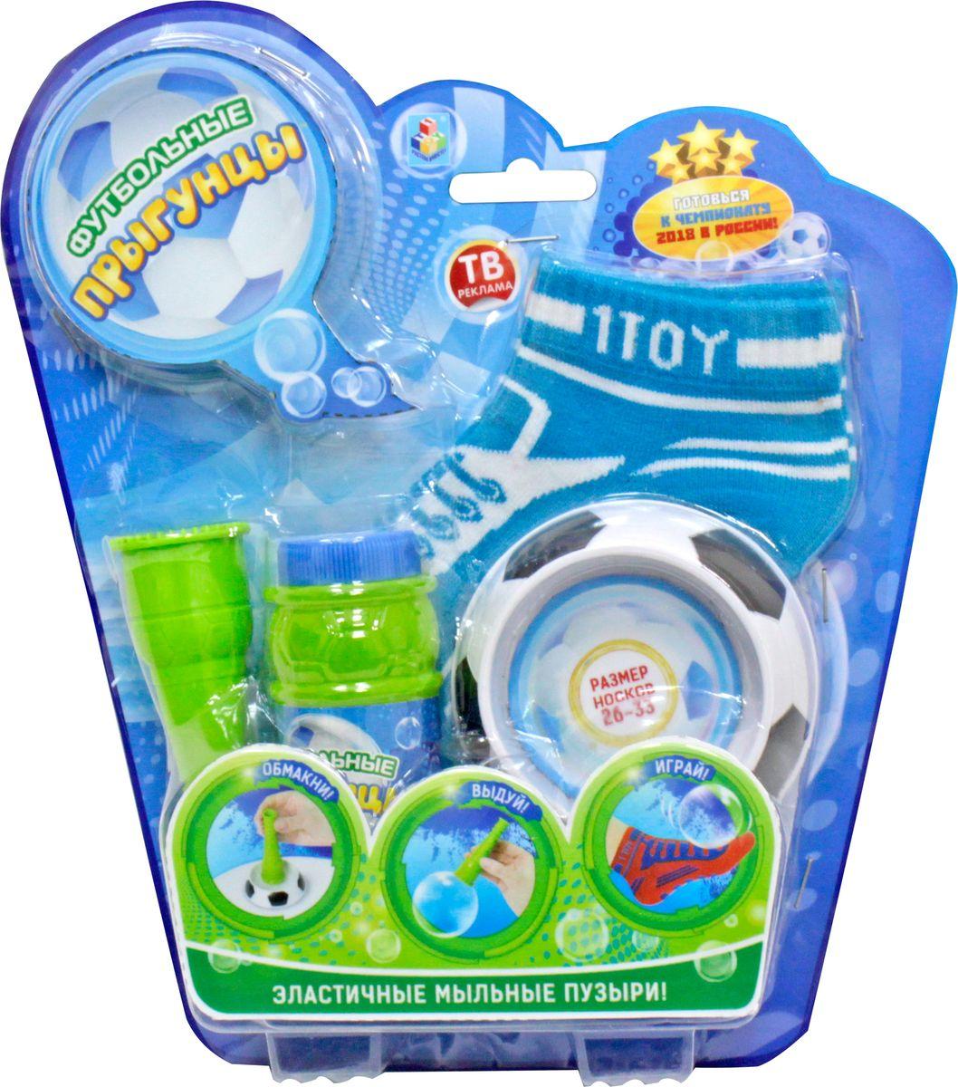 1TOY Мыльные пузыри Футбольные Прыгунцы 80 мл Т59275 мыльные пузыри 1 toy мыльные пузыри angry birds колба 90 мл