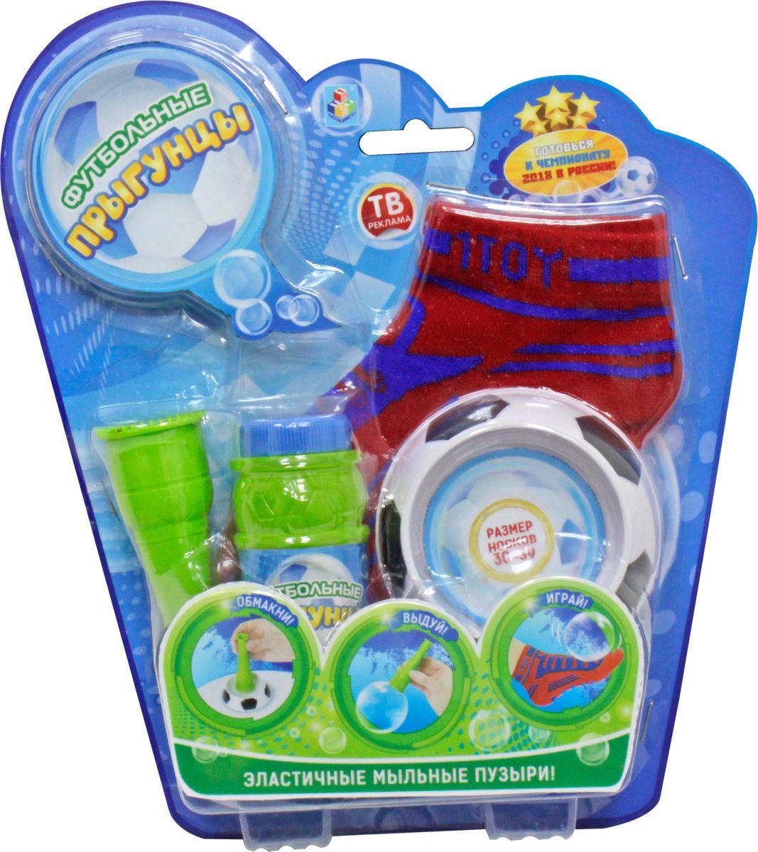 1TOY Мыльные пузыри Футбольные Прыгунцы 80 мл Т59276 мыльные пузыри 1 toy мыльные пузыри angry birds колба 90 мл