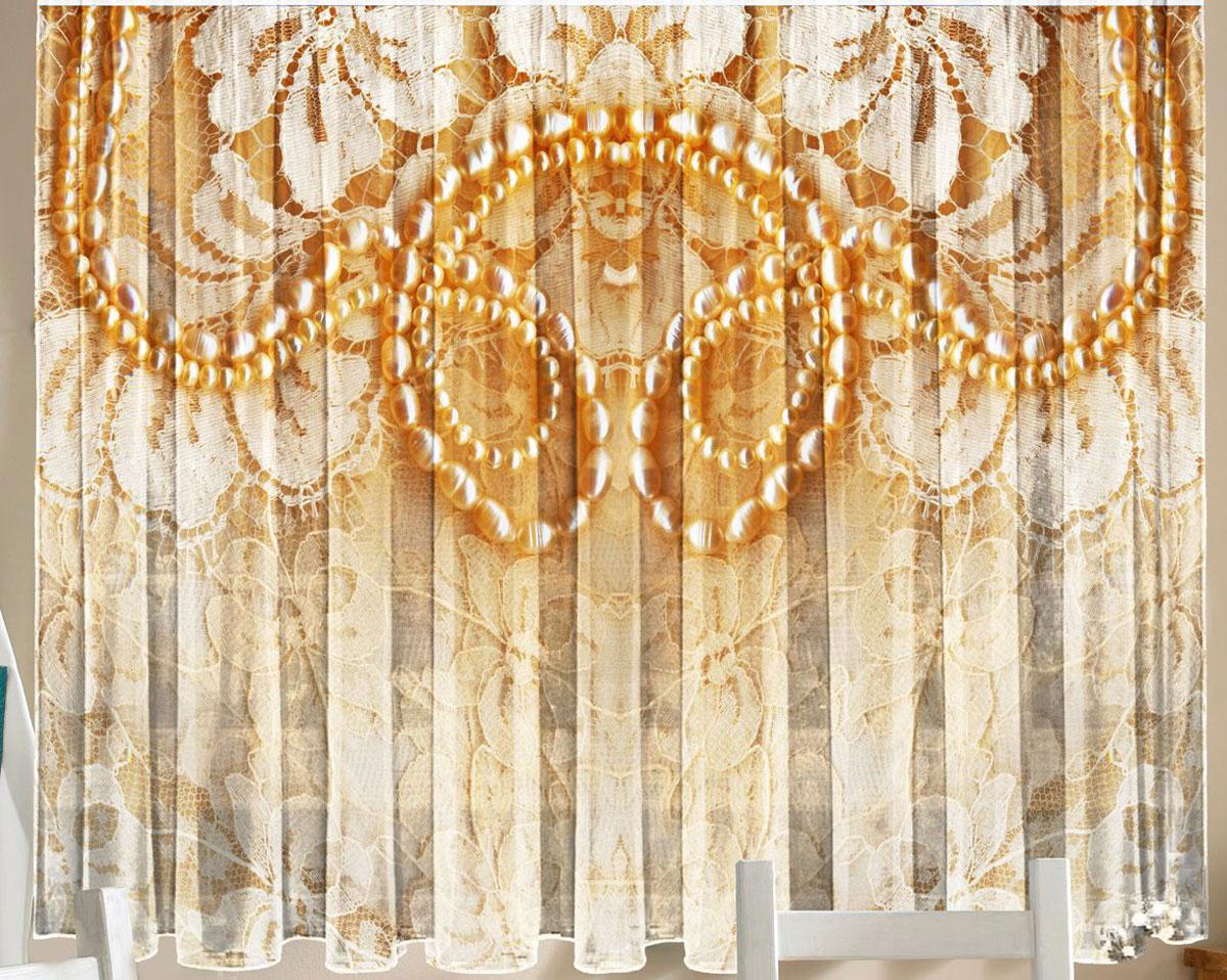 Комплект фототюлей для кухни Zlata Korunka Кружево, на ленте, высота 160 см21290Фототюль - это новинка в мире фотоштор. Для производства используется шифоновая ткань высочайшего качества. В комплект входят 2 полотна (каждое - шириной 145 см х высотой 160 см), соединенных по верху одной шторной лентой.Рекомендации по уходу: бережная стирка при 30°С, деликатный отжим, отбеливание запрещено. Оттенок изделия может отличаться от представленного на сайте в силу особенностей цветопередачи фототехники и вашего монитора.