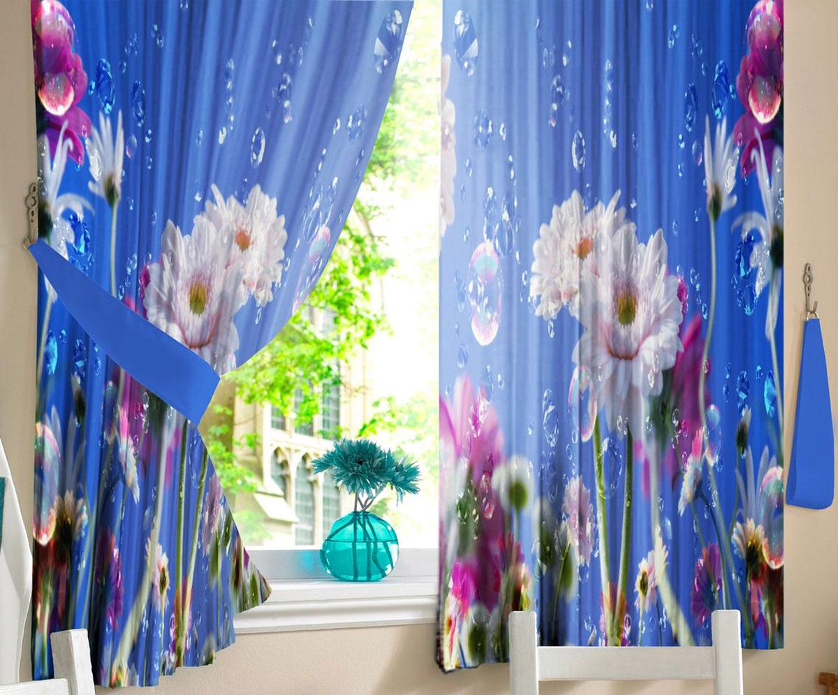 Комплект фотоштор для кухни Zlata Korunka Капли росы, на ленте, высота 160 см21316Комплект штор для кухни Zlata Korunka, выполненный из полиэстера, великолепно украсит любое окно. Комплект состоит из 2 штор. Крупный цветочный рисунок и приятная цветовая гамма привлекут к себе внимание и органично впишутся в интерьер помещения. Этот комплект будет долгое время радовать вас и вашу семью!Комплект крепится на карниз при помощи ленты, которая поможет красиво и равномерно задрапировать верх.