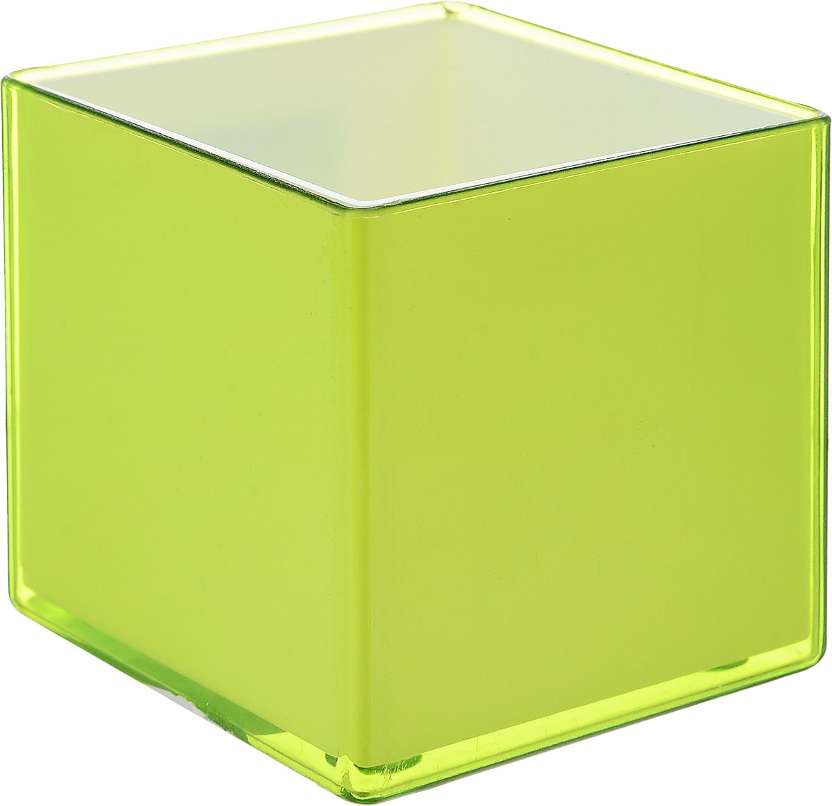 Кашпо JetPlast Мини куб, на магните, цвет: зеленый, 6 x 6 x 6 см4612754050482Традиционно горшки для цветов имели круглую форму, но сейчас набирают популярность квадратные и прямоугольные кашпо. Стильные и современные, они отлично впишутся в любой интерьер. Особенно эффектно такие изделия будут смотреться там, где преобладают четкие линии и простые формы. Кашпо «Мини-куб» — это миниатюрные горшки, которые дополнят интерьер и внесут в него изюминку. Объем в 160 мл рассчитан под рассаду карликовых растений. Вы сможете поставить вазу на рабочий стол, полку или же подоконник. Модель «Мини-куб» имеет ряд особенностей: две магнитных ленты, с помощью которых можно поместить изделие на металлической поверхности вставка, которая позволяет ухаживать за горшком без повреждения покрытия малый вес и компактность при производстве используется только безопасный пластик.